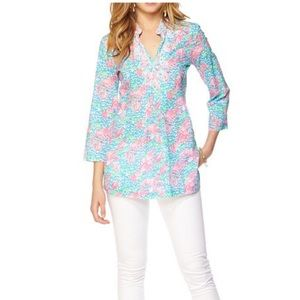 Lilly Pulitzer Sarasota Tunic Beaded/Lobstah Roll